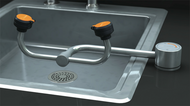 Guardian G1895 Eyewash, Deck Mounted, AutoFlow™ 90º Swivel, All-Stainless Steel, Right Hand Mounting