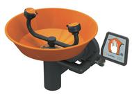 A photograph of an orange Guardian G1892 all-PVC eyewash.