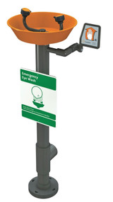 Guardian G1896 Eyewash, Pedestal Mounted, All-PVC Construction