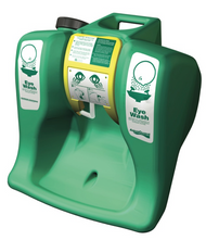 A photograph of a Guardian G1540 AquaGuard Gravity-Flow Portable Eye Wash in the storage position.