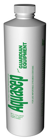 A photograph of a single bottle of G1540BA-R Aquasep Preservative for Portable Eyewash Stations.