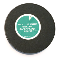 A photograph of the top of a G1540CP Replacement Cap For Guardian G1540 Eye Washes.