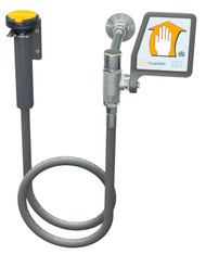A photograph of the Guardian G5012 Drench Hose Unit, Wall Mounted w/ Flag Activation Handle.