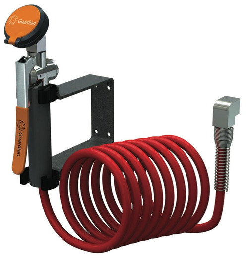 A photograph of a Guardian G5016 Drench Hose Unit, Wall Mounted.
