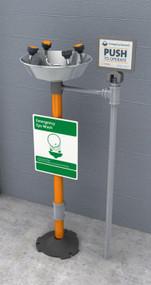 Guardian GFR1704 Freeze-Resistant WideArea™ Eye/Face Wash, Pedestal Mounted