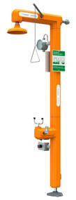Guardian GFR3200 Heated Safety Station with Eyewash, Top Inlet, Rated for Class I, Division 1 Environment