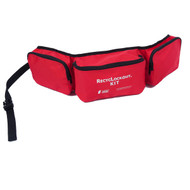 A photograph of a red 07113 zing recylockout™ lockout belt pack with 3 compartments.