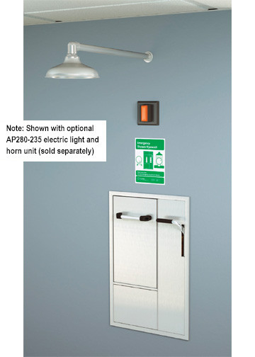 A photograph of a GBF2170 installed in a room along with an optional AP280-230 electric light/horn (sold separately).