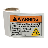 ANSI Arc Flash Labels w/ Arc Flash Icon, 100/roll