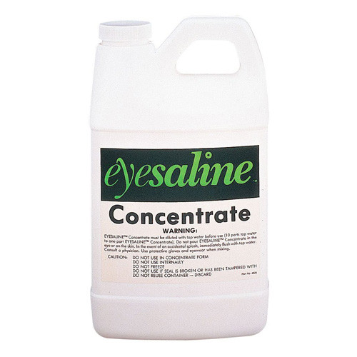 A 70 ounce bottle of Honeywell Eyesaline® concentrate.