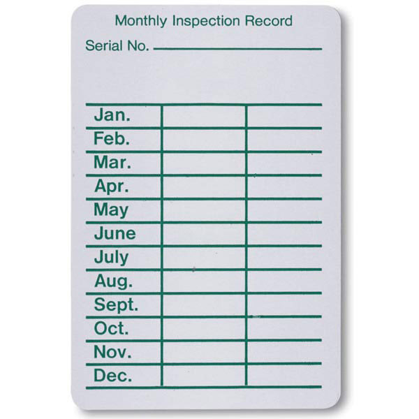 Fire Extinguisher Inspection Record Labels 100 Per Roll