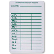 Fire Extinguisher Inspection Record Labels, 100 per Roll