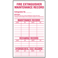Fire Extinguisher Maintenance Record Labels, 5/pkg