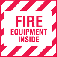 "4"" x 4"" Fire Equipment Inside Decal, 5/pkg"