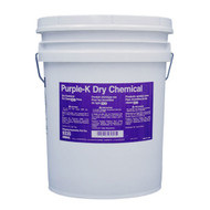 A picture of a 50 lb pail of Ansul Purple-K Class BC Extinguisher Powder.