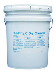 A picture of a 50 lb pail of Ansul Plus-Fifty C Class BC Extinguisher Powder.