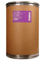 A picture of a 200 lb fiberboard drum of Ansul Purple-K Class BC Extinguisher Powder.