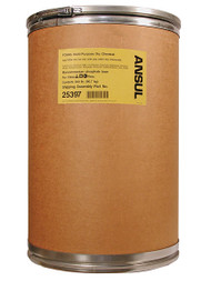 A picture of a 200 lb fiberboard drum of Ansul Foray Class ABC Extinguisher Powder.