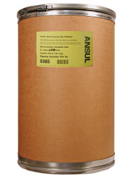 A picture of a 400 lb fiberboard drum of Ansul Foray Class ABC Extinguisher Powder.