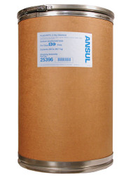 A picture of a 200 lb fiberboard drum of Ansul Plus-Fifty C Class BC Extinguisher Powder.