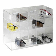 Divided Eyewear Dispensers for Safety Glasses or Safety Googles w/ Lock Option