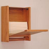 Light oak cabinet, open