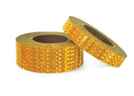 Photograph of 2 rolls of Yellow School Bus Conspicuity Tape.