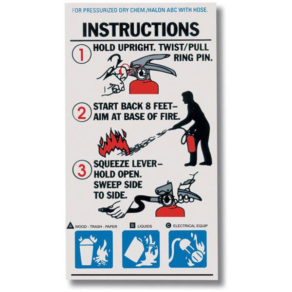 Abc Fire Extinguisher >> Abc Fire Extinguisher Instructional Labels