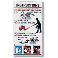 Water Fire Extinguisher Instructional Label
