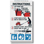 ABC Cartridge Extinguisher Instructional Label