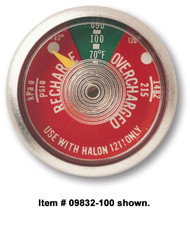 Halotron I Fire Extinguisher Gauges