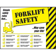 Picture of  forklift safety poster.