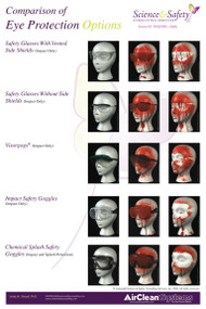 A photograph of a 11020 comparison of eye protection options poster.