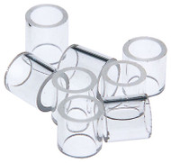 Glass Rings for Distillation Column Packing, 1 pound