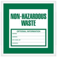 Non-Hazardous Waste Labels, 500/Roll