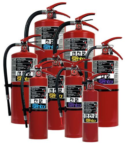 2 Ansul Sentry Bracket 429146 5LB Dry Chemical Extinguishers