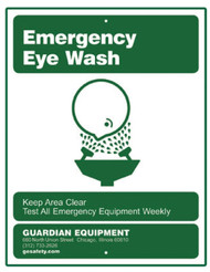 Guardian 250-007G Emergency Eye Wash Sign