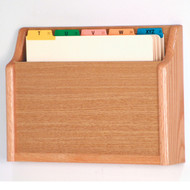 Picture of light oak 1 pocket file/chart holder.  Files not included.
