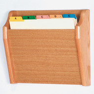 Picture of light oak tapered, 1 pocket file/chart holder.  Files not included.