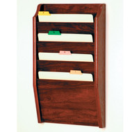 Picture of mahogany 4 pocket file/chart holder.  Files not included.