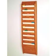 Picture of medium oak 10 pocket file/chart holder.  Files not included.