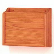 Picture of medium oak privacy 1 pocket file/chart holder.