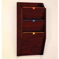 Picture of mahogany privacy 3 pocket file/chart holder.  Files not included.