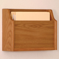 Picture of medium oak extra deep 1 pocket file/chart holder.  Files not included.