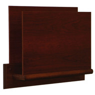 Picture of mahogany privacy, open-end file/chart holder.  Files not included.