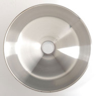 An overhead photograph of an Guardian 100-008R Stainless Steel Eye/Face Wash Bowl.