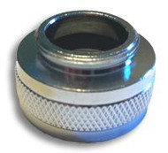 """A photograph of the AP400-015 Female 3/4"""" Garden Hose Inlet Adapter for G1100 and G1200 Series Eyewashes."""