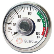 A photograph of a Guardian 400-004-2 Pressure Gauge for G1562 Eye Washes.
