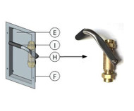 A drawing of the valve installed in its stainless steel activation station (left) as well as a side view photograph of the Guardian AP600-350 Shower Valve Assembly (right)