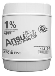A black and white picture of Ansulite™ AFC1B-FP29 1% Freeze-Protected AFFF, 5 gallon (19 liter) pail